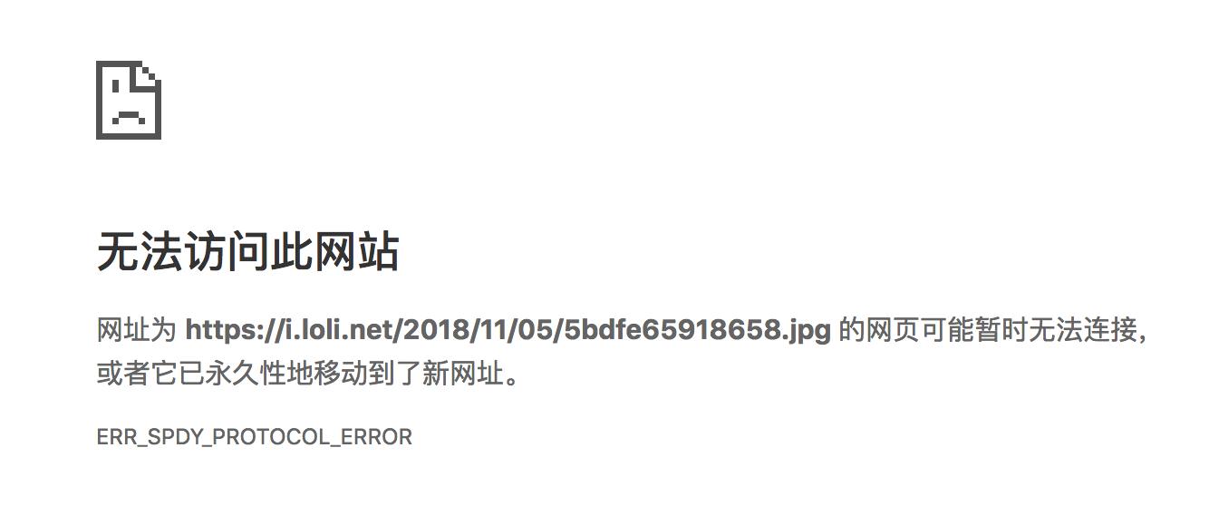ERR_SPDY_PROTOCOL_ERROR错误示意图