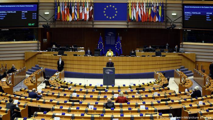 欧洲议会以599赞成、30反对、58弃权通过了决议