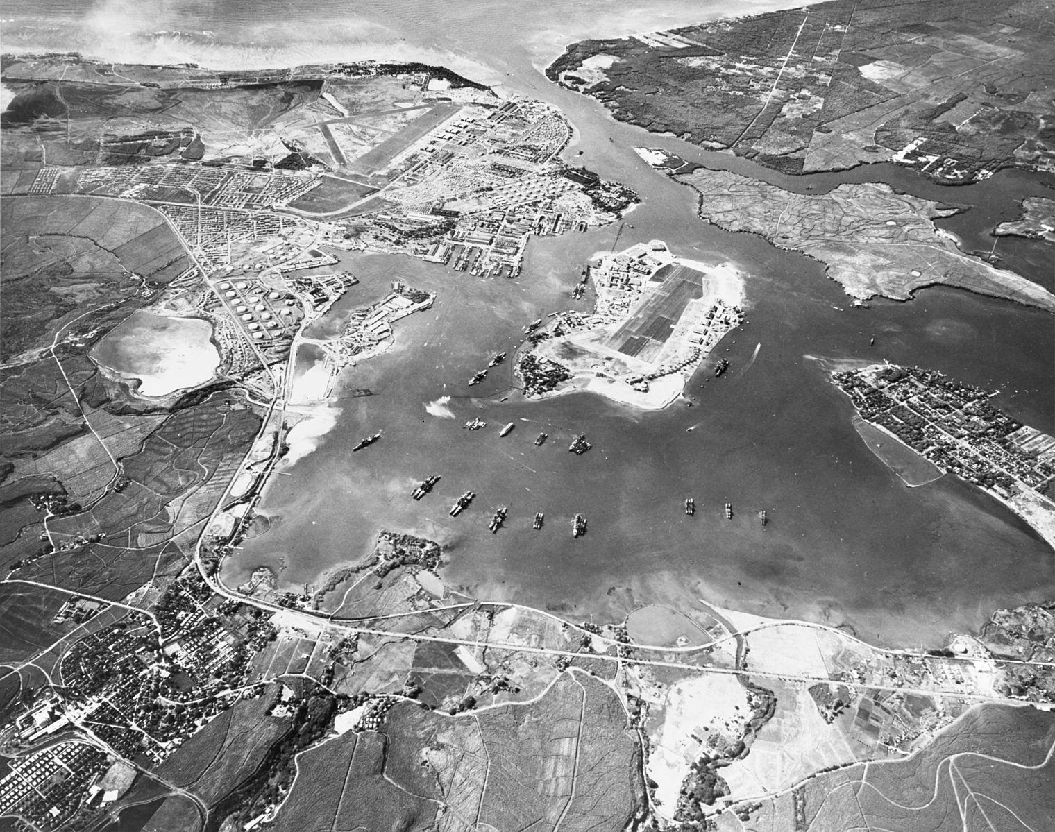 珍珠港俯视图(1941年10月30日)