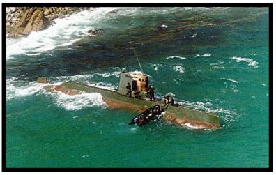 事件中搁浅的鲨鱼级潜艇