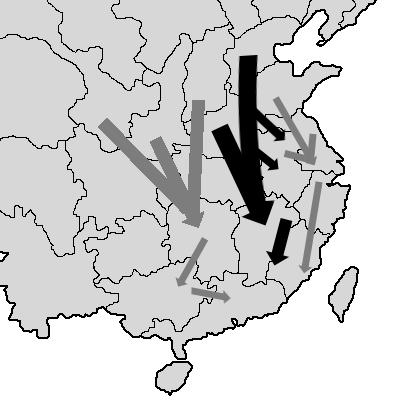 中原氏族南迁图